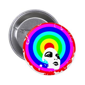 RegenbogenAfro Anstecknadel