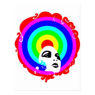 RegenbogenAfro Postkarte