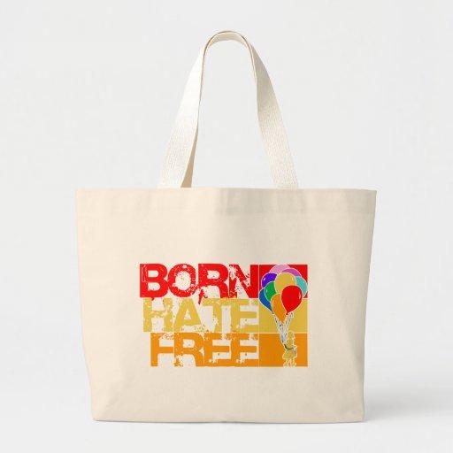 Regenbogenballone. geborener Hass geben frei Einkaufstaschen