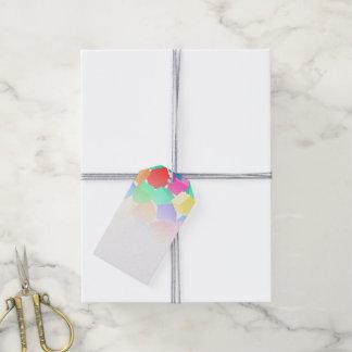 Regenbogenblöcke Geschenkanhänger