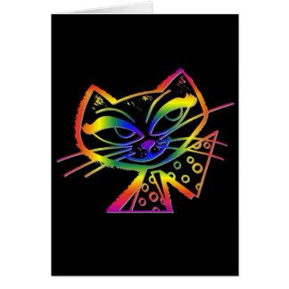 Regenbogenc$boo-boo-Miezekatze Karte
