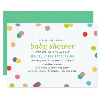 Regenbogenconfetti-Babyparty laden ein Karte