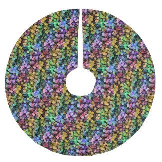 RegenbogenConfetti, bunt, Paillette, bunt Polyester Weihnachtsbaumdecke