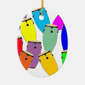 Regenbogencongas Keramik Ornament