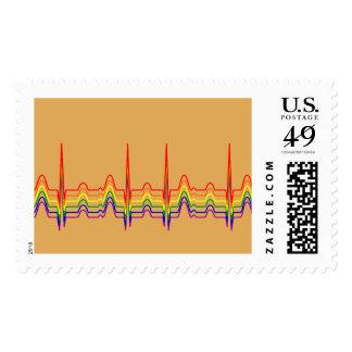 RegenbogenEKG Sunray Briefmarke