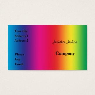 Regenbogenfarben Visitenkarte