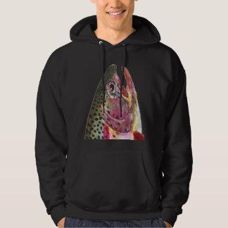 Regenbogenforelle-Fische Hoodie