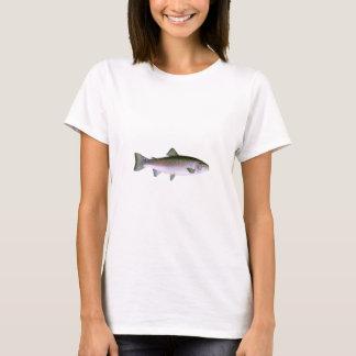 Regenbogenforelle-Fischen-Logo T-Shirt