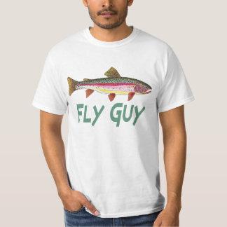 Regenbogenforelle-Fliegen-Fischen T-Shirt