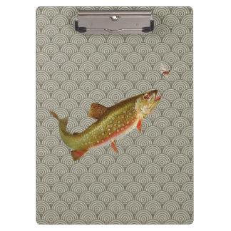 Regenbogenforelle-Fliegenfischen Klemmbrett