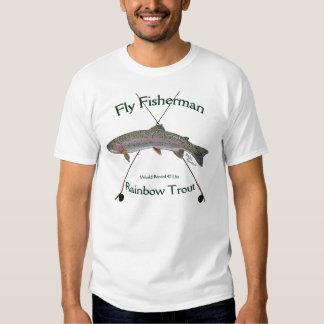 Regenbogenforelle-Fliegenfischen T-Shirt