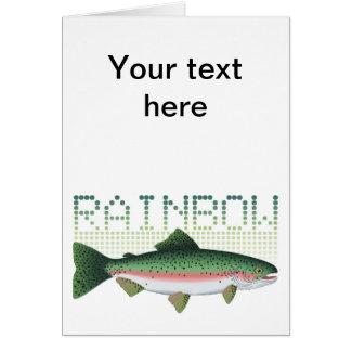 Regenbogenforellegeschenk für einen Angler oder ei Grußkarte
