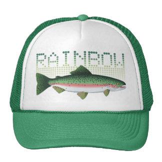 Regenbogenforellegeschenk für einen Angler oder ei Trucker Cap