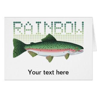 Regenbogenforellegeschenk für einen Angler oder Grußkarte