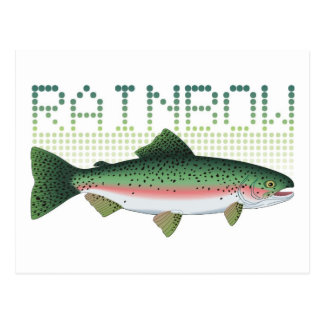 Regenbogenforellegeschenk für einen Angler oder Postkarten