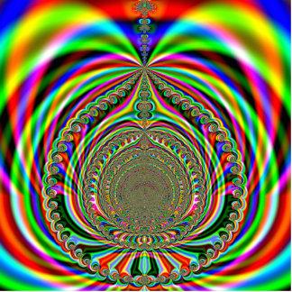 Regenbogengenies-Lampen-Fraktal Freistehende Fotoskulptur