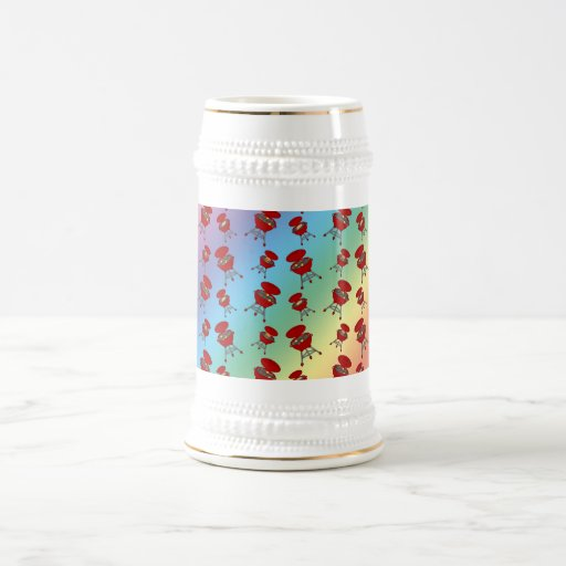 Regenbogengrillmuster Kaffeetasse