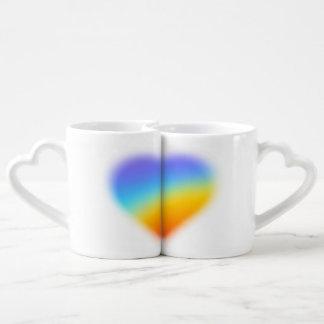Regenbogenherz für Paar-Tasse Liebestassen