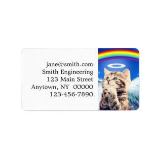 Regenbogenkatze - Katzenbeten - Katze - niedliche Adressaufkleber