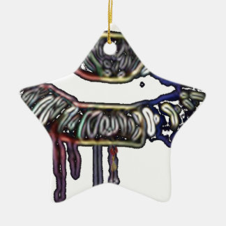 Regenbogenlippenentwurf Keramik Ornament