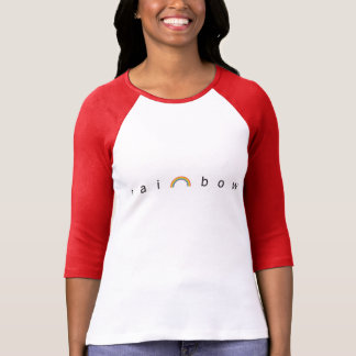 Regenbogenraglan-Hülsen-T-Stück T-Shirt
