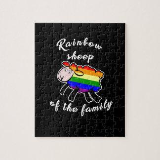 Regenbogenschafe Puzzle