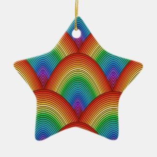 Regenbogenskalen Keramik Stern-Ornament