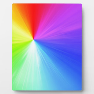 Regenbogenspektrumentwurf Fotoplatte