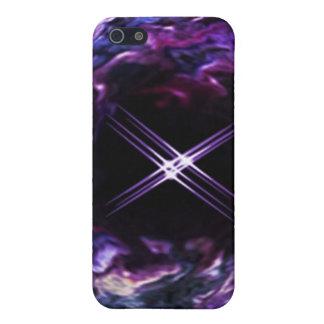 Regenbogenstern-Speckkasten der Fantasie lila iPhone 5 Etui