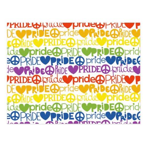 Regenbogenstolz Postkarten
