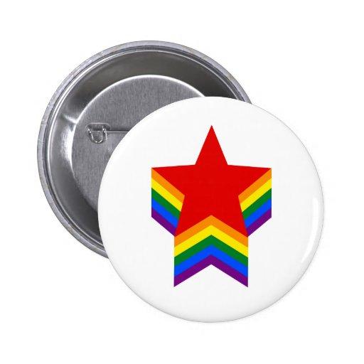 Regenbogenstolz spielt Knopf die Hauptrolle Button
