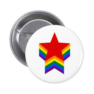 Regenbogenstolz spielt Knopf die Hauptrolle Runder Button 5,1 Cm