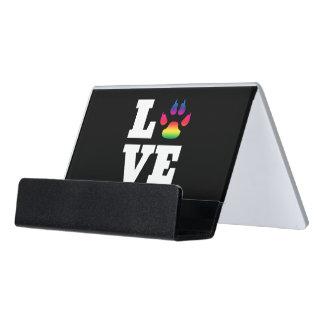 Regenbogentatze Schreibtisch-Visitenkartenhalter