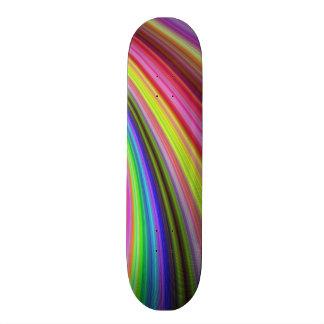 Regenbogenturbulenz Bedrucktes Skateboard