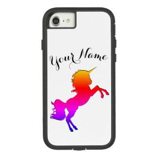 RegenbogenUnicorn mit personalisiertem Namen Case-Mate Tough Extreme iPhone 8/7 Hülle