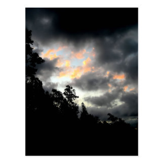 Regenbogenwolken Postkarte