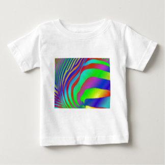 Regenbogenzebra-Druck Babys T - Shirt