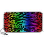 Regenbogenzebra-Druck Notebook Speaker