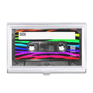 RegenbogenZebra Stripes Kassetten-Aufkleber Visitenkarten Etui