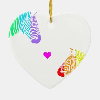RegenbogenZebras Keramik Ornament
