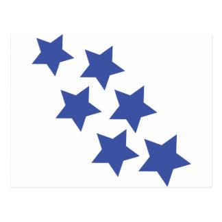 Regenikone des blauen Sternes Postkarte