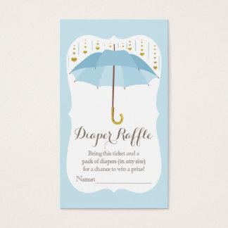Regenschirm-Baby besprühen blaue Visitenkarte