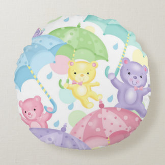 Regenschirm-Baby trägt ringsum Kissen