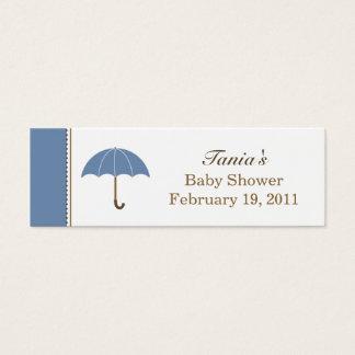 Regenschirm-blauer kleiner Umbau Mini Visitenkarte