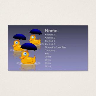 Regenschirm duckt Visitenkarte