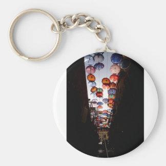 Regenschirm-Gasse Schlüsselanhänger