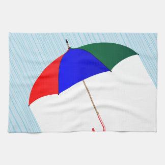 Regenschirm im Regen Handtuch