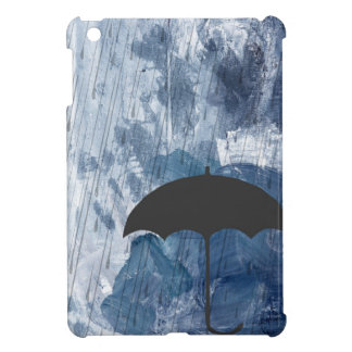 Regenschirm in der blauen Dusche iPad Mini Hülle