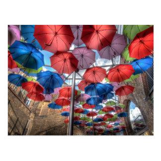 Regenschirm-Kunst, Stadt-Markt, London Postkarten