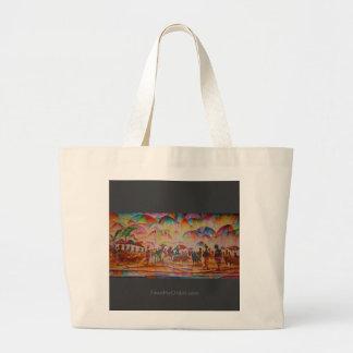 Regenschirm-Markt - Taschen-Tasche Jumbo Stoffbeutel